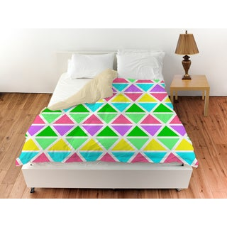 Neon Party Geo Pattern Duvet Cover