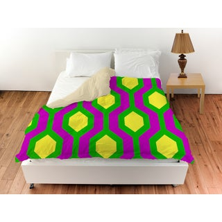 Neon Party Honeycomb Pattern Duvet Cover