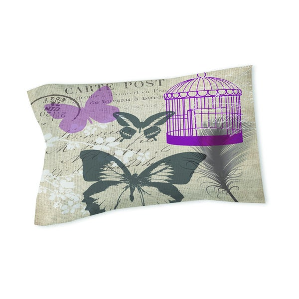 Butterfly Collage Burlap Sham