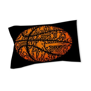 Basketball Sports Silhouettes Sham