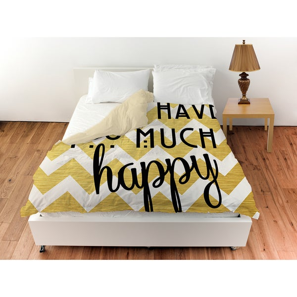 Never Too Much Happy II Duvet Cover
