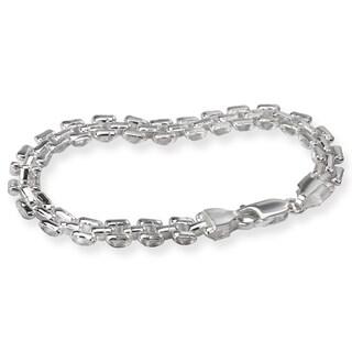 Avanti Sterling Silver Italian Design Link Bracelet