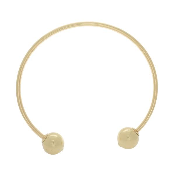NEXTE Jewelry Goldtone Open Collar Choker Necklace