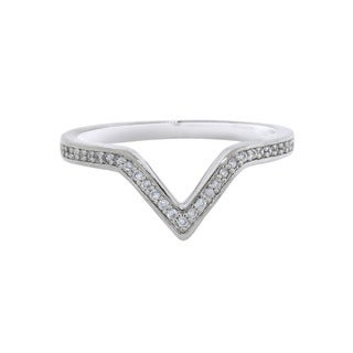 Eternally Haute Rhodium-plated Brass Cubic Zirconia Victory Ring