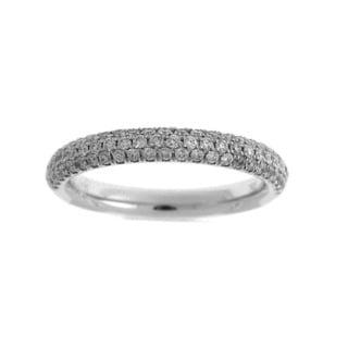 Azaro 18k White Gold 1/2ct TDW Diamond Band (G-H, SI1-SI2)