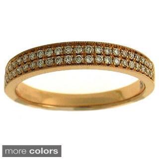 Azaro 18k Gold 1/4ct TDW Diamond Band (G-H, SI1-SI2)