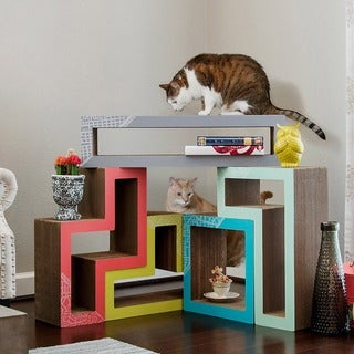 KATRIS Cat Scratcher System & Blocks Cat Tree Condo Furniture Shelves Different Covers & Styles