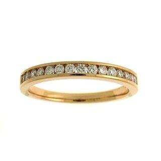 Azaro 18k Gold 1/3ct TDW Diamond Band (G-H, SI1-SI2)