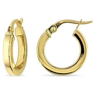 Miadora 10k Yellow Gold Italian Hoop Earrings