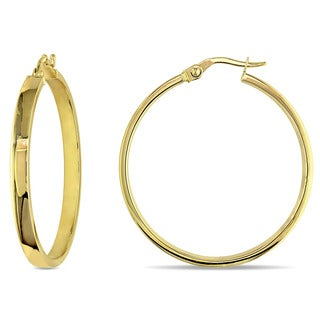 Miadora 10k Yellow Gold Italian Hoop Earrings