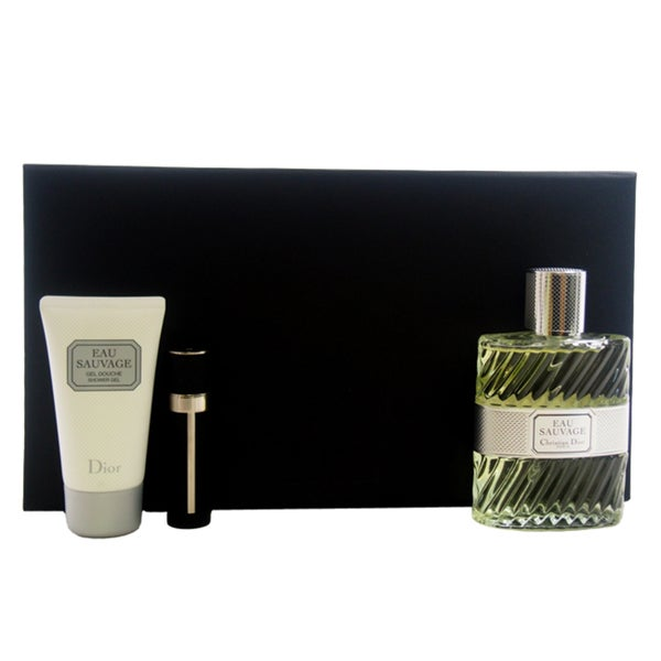 25409379 Christian Dior Eau Sauvage Men's 3-piece Gift Set (Limited Edition)