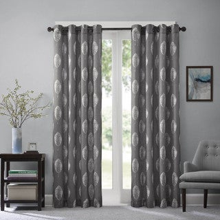 Madison Park Tessa Printed Leaf Curtain Panel