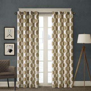 Madison Park Miki Printed Dot Window Curtain--4 Color Options