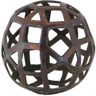 Ren Wil Renwil Expedition Cobalt Brass Decorative Sphere