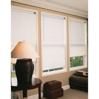 Lewis Hyman Durable Anti Static Radiance White Vinyl Mini Blind with 1-inch Slats