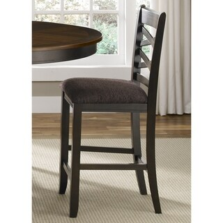 Bistro II Honey and Espresso Double X-back Counter Height Barstool