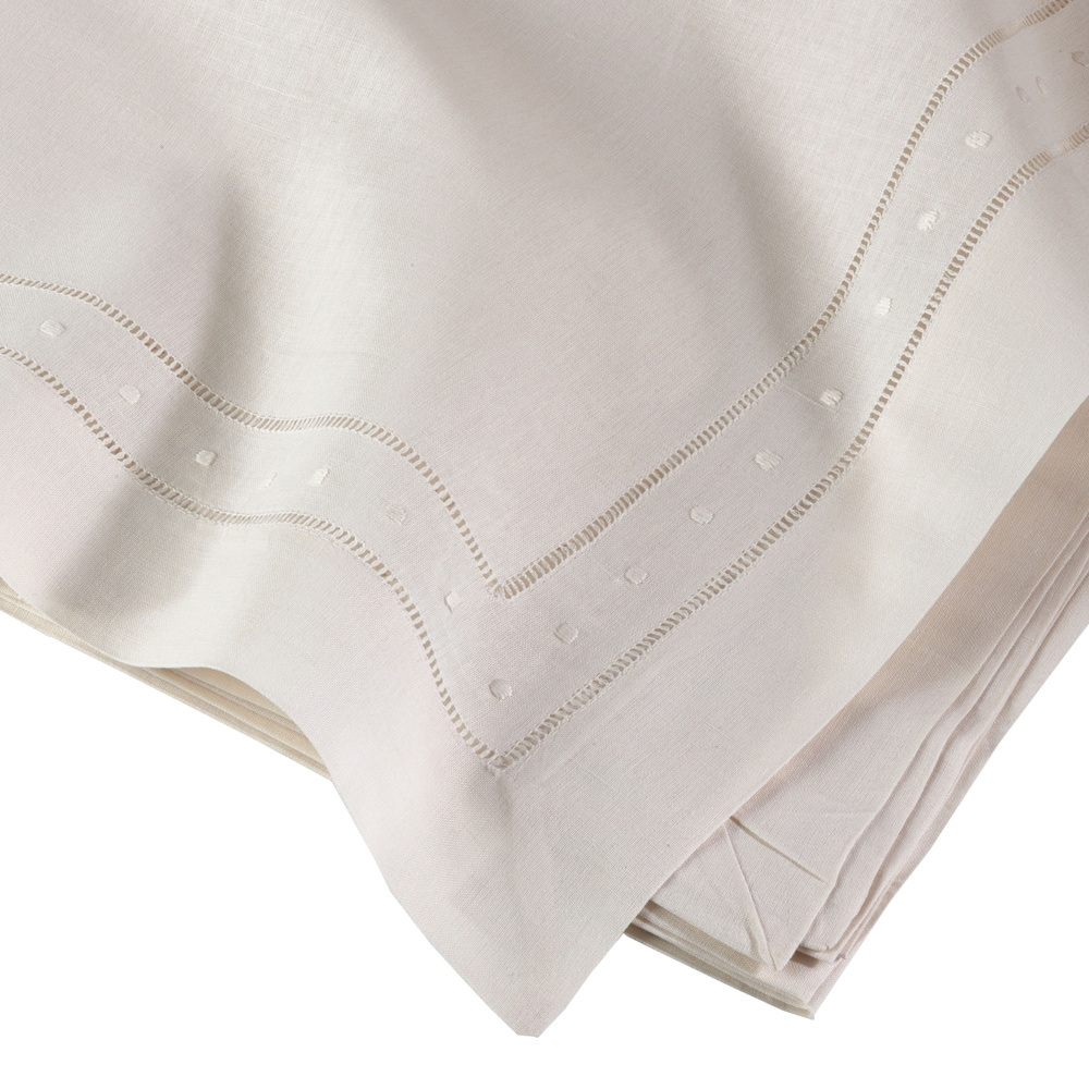 Shop Embroidered and Hemstitched Linen Blend Placemat - set of 4 - 10112331