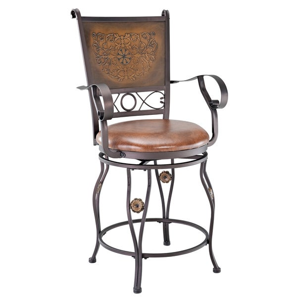Powell Aberdeen Counter Stool With Arms Free Shipping