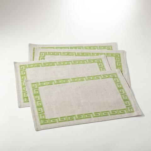 Stitched Greek Key Design Placemat (Set of 4)