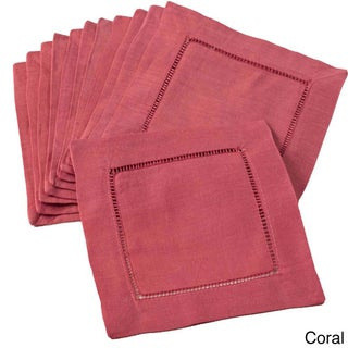 Hemstitch Cocktail Napkin - set of 12 (More options available)
