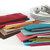 Hemstitched Linen Blend Cocktail Napkins (Set of 12)
