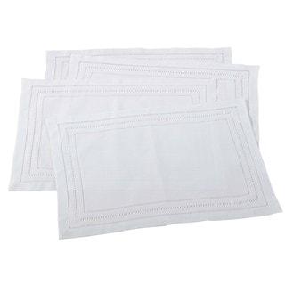 Linen Blend Hemstitch Placement - set of 4