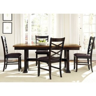 Bistro Transitional Trestle 5-piece Dinette Set