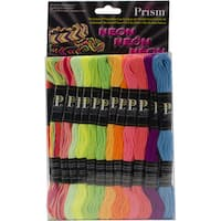 Prism 6-strand 8.7 yd. Neon Floss Pack (Set of 24)
