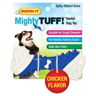 Mighty Tuff Spiky Ribbed Bone Dog Toy
