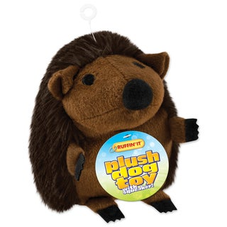 Large Plush Hedgehog Dog Toy