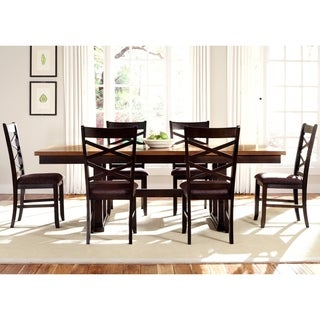Bistro Transitional Trestle 7-piece Dinette Set