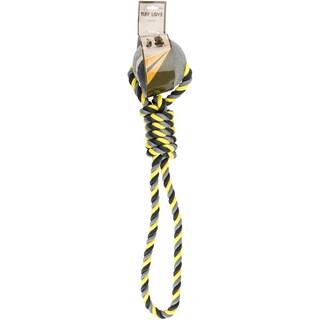 Nandog Tuff Love Tennis & Rope Dog ToyNeon Gray/Yellow
