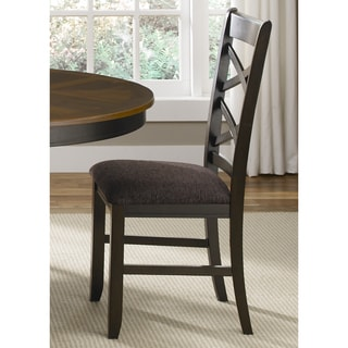 Bistro Transitional Double X-Back Side Chair