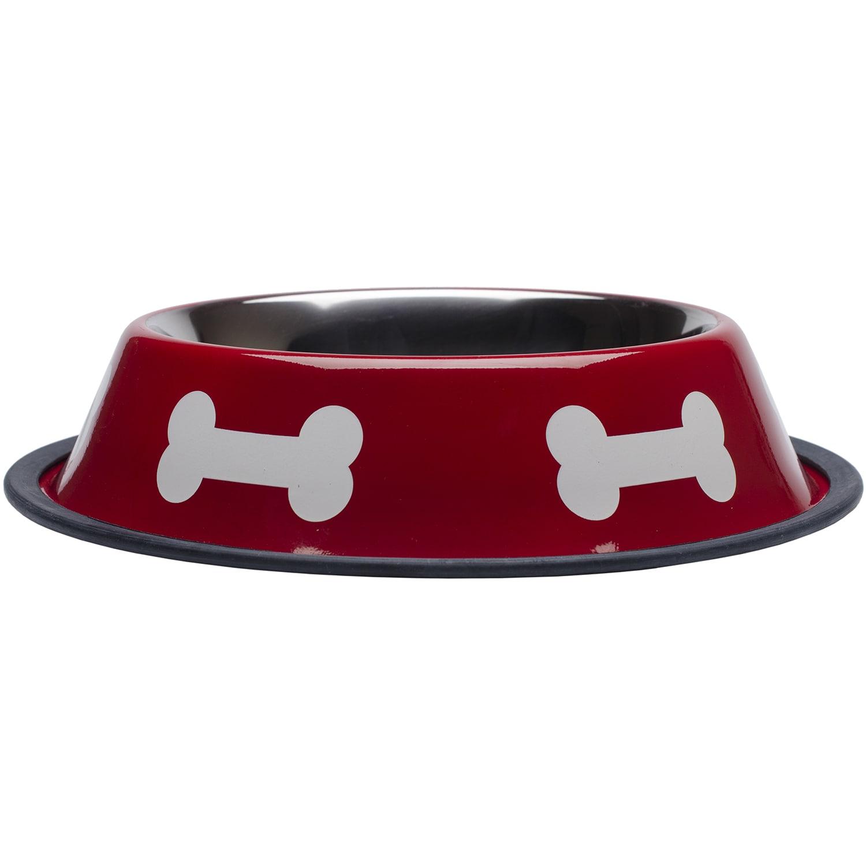 Westminster Fashion Steel Bowl Red W/White Bones 32oz (32oz)