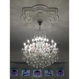 Maria Theresa 19-light Full Lead Crystal Chrome Finish Chandelier