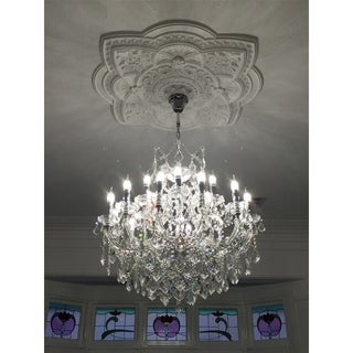 Maria Theresa Grand 19-light Full Lead Crystal Chrome Finish Chandelier
