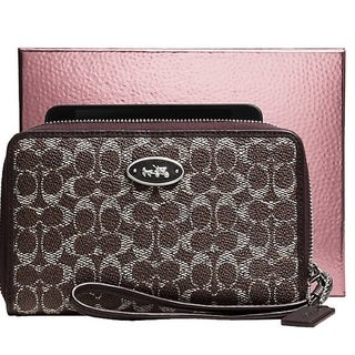 Coach Signature Canvas Universal Wallet