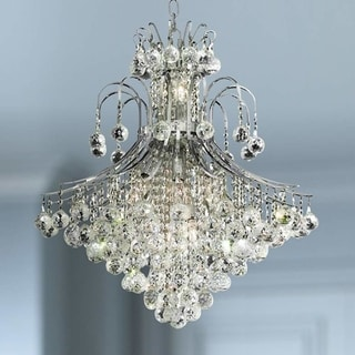 Link to French Empire 15-light 25 inch Full Lead Crystal Chrome Finish Chandelier - Large Chandelier - Large Chandelier Similar Items in Chandeliers
