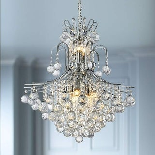 Province 11-light Full Lead Crystal Chrome Finish Chandelier