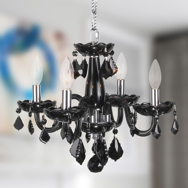 Kids room chandelier 4 light full lead black crystal chrome finish kids room chandelier 4 light full lead black crystal chrome finish classic 16 inch aloadofball Images