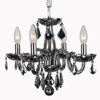 Kids Room Chandelier 4-light Full Lead Chrome Crystal & Chrome Finish 16-inch Mini Chandelier
