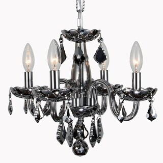 Kids Room Chandelier Modern Elegance 4-light Full Lead Chrome Crystal & Chrome Finish 16-inch Mini Chandelier