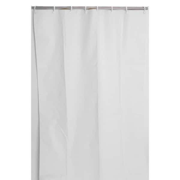 Shop Heavy-Duty White Vinyl Commercial-Grade Shower Curtain - Free ...
