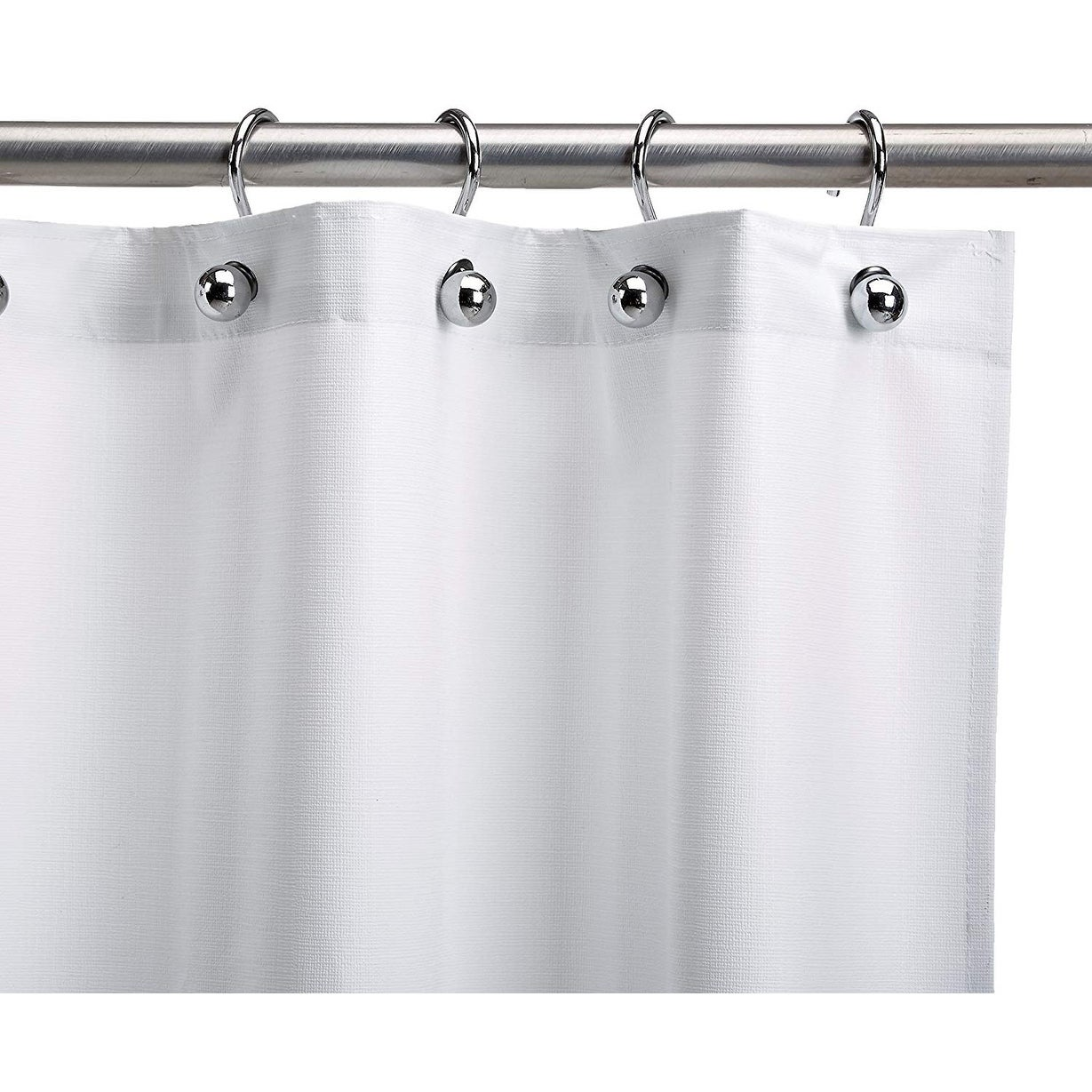 Csi Assure Heavy Duty White Vinyl Shower Curtain