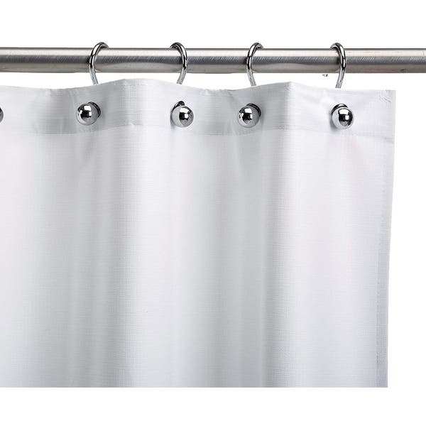 Shop Csi Assure Heavy Duty White Vinyl Shower Curtain On Sale