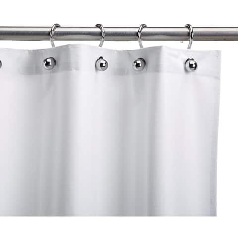Heavy-Duty White Vinyl Shower Curtain