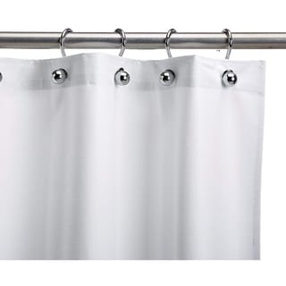 Heavy-Duty White Vinyl Commercial-Grade Shower Curtain