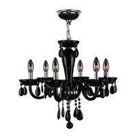 Hontiveria black and gold tone metal and glass chandelier free contemporary 6 light blown glass in black finish chandelier aloadofball Image collections