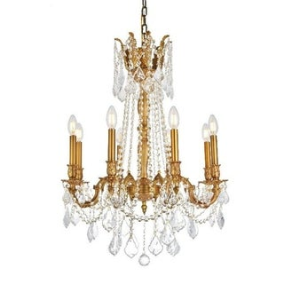Windsor Traditional 8-light French Gold Finish Full Lead Crystal Chandelier