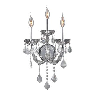 Maria Theresa Imperial 3-light Full Lead Clear Crystal Chrome Finish Wall Sconce-light